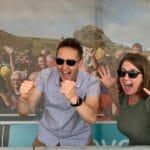 Selfie competition winners Helen and Haydn Boehm